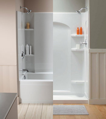 Tub Shower Replacements Northtowns Remodeling Corp - 2 day bathroom remodel